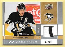 09/10 Upper Deck Game Patches #EM Evgeni Malkin 2 Color Patch #13/15