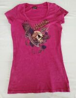 Harley Davidson T- Shirt Womens XL Magenta   Motorcycles Windy City Chicago