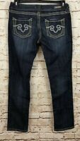 Rerock for Express skinny jeans womens 8 short new thick stitch D7
