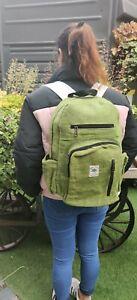 Hemp Bagpack natural Eco- green themed trendy Handmade organic sustainable bag