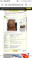 Rare Antique Wooden Continental Tube Radio Model 652