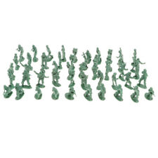 100pcs Mini Army Men Playset Plastic Toy Soldiers 2cm Figures & Accessories