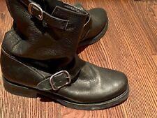 Frye Black Moto Boots size 8