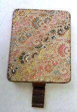"Vintage ""Zell"" Evening Purse/Vanity/Makeup Case, Floral Brocade Cover"
