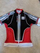 Santini Mens Interactive Aero Short Sleeve Jersey Black Small Road Bike Cycling