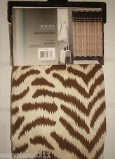 "ANIMAL PRINT FLOCK FABRIC SHOWER CURTAIN   70""X 72""  NEW"