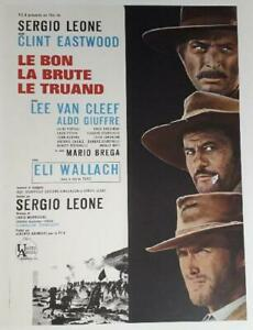 Poster Mounted The Good, Brute And Ugly Sergio Leone Clint Eastwood 60x80