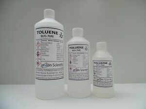 Toluene Toluol 99.9% Pure very High quality ACS/Lab Grade 3 Sizes Available