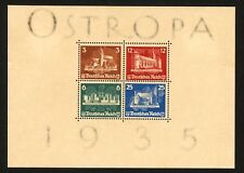 1935 Germany Stamp Scott #B68 Ostropa Souvenir Sheet, MINT, Lightly Hinged og