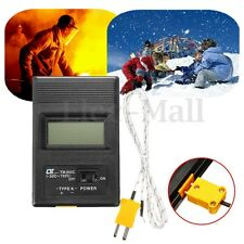 TM-902C K Type Digital LCD Thermometer Thermodetector Meter + Thermocouple Probe