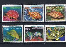 AUSTRALIA 18/6/1984 Great Barrier Reef marine life MNH SET OF SIX 1984.