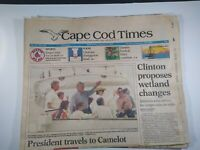 CAPE COD TIMES MA NEWSPAPER Aug. 25 1993 CLINTON SAILS WITH KENNEDY'S CAMELOT