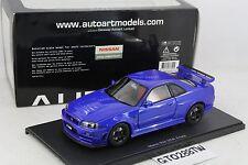 AUTOart 1:18 Nissan Skyline R34 GT-R Nismo Z-Tune 2005 Z2 (Bayside Blue) 77354