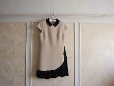 Kate Spade Womens Ruffle Crepe Sheath Dress 6 Pumice