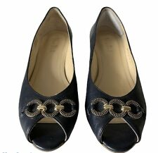 Van Dal Leather Toe Post Navy Blue Shoes UK 5  Eu 38/39