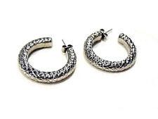 Dyrberg Kern boucles d'oreilles créoles plaqué argent earrings