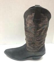 Dingo Black Leather Cowboy Western Boots Womens Size 9 M Style 15070