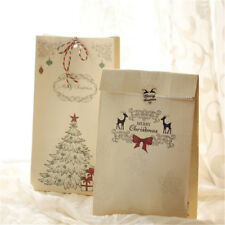 Eco Friendly Kraft Paper Bags Merry Christmas Gift Bag Cookies Present Gift Case