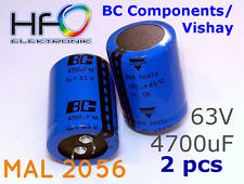 [2 pcs] VISHAY BC Components MAL2056 4700uF 63V capacitors SNAP-IN