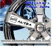 8 STICKER AUTOCOLLANT LOGO JANTE SEAT ALTEA