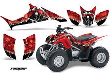 ATV Graphics Kit Quad Decal Sticker Wrap For Honda TRX90 2006-2018 REAPER RED