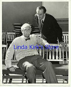 "Basil Rathbone & Walter Hampden Promo Photograph ""On Borrowed Time"" CBS-TV"