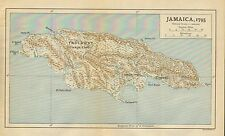 Map/Battle Plan ~ Map Of Jamaica During 1795 The Campaigns of the West Indies