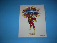 DC COMICS SUPER POWERS SHAZAM CAPTAIN MARVEL STYLE GUIDE PIN UP