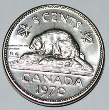 Canada 1970 5 cents Nice UNC from roll - Low Mintage