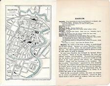 Haarlem 1928 kl. orig. stadskaart + engels reisgids (3 p) Groote Kerk Zyl Singel