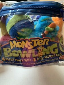 Melissa & Doug Monster Plush Bowling Toy Game Fluffy Monsters Complete Set Pins