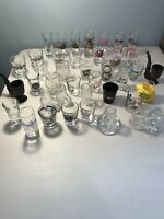 40 Piece Shot Glass Collection Of Various Styles And Sizes