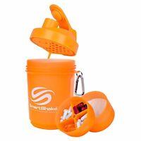 SMARTSHAKE ORIGINAL 600ML NEON ORANGE SMART SHAKER GYM PROTEIN MIXER BOTTLE CUP