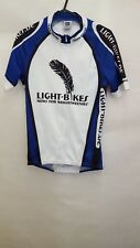 OWAYO CYCLING JERSEY TOP SIZE S SMALL SHORT SLEEVE - WHITE BLUE