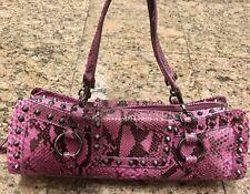 Tanner Krolle Pink Snakeskin Bag Retail $2100
