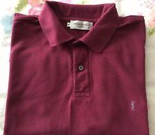 Men's YSL Yves Saint Laurent Short Sleeve Vintage Polo Shirt Size M