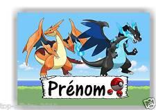 Plaque de porte en ( sur ) bois  Pokémon   avec prénom   N° 148