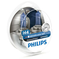 Philips Diamond Vision H4 5000K Car Headlamp Styling Bulbs (Twin) 12342DVS2