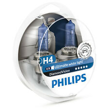 PHILIPS DIAMOND VISION H4 5000K Voiture Projecteur Style ampoules (Twin) 12342DVS2