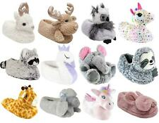 Womens Ladies 3D Soft Comfy Character Novelty Animal Unicorn House Slippers