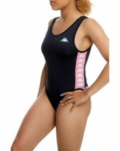 NEW NWT Womens kappa banda bodysuit auber pink Side logo SZ XL X-Large Stretch