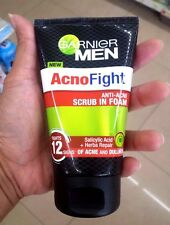 100 ml. face Garnier men acno fight scrub in foam acne dullness salicylic acids