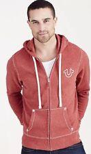 Nwt True Religion Brand Jeans Men's Big T Stitch Zip Hoodie Sweatshirt Medium