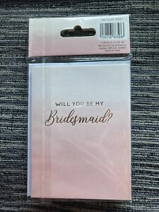 Will You Be My Bridesmaid Cards (2 Pack)