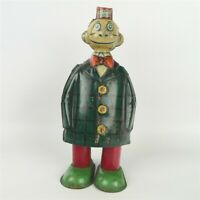 "Antique 1932 J. Chein Happy Hooligan Wind-Up Walking Tin Toy 6"" American Comic"