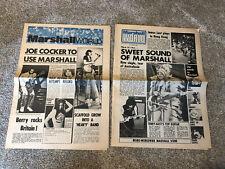 2 Vintage 1972-1973 Marshall amp amplifier Marshall World Newsletter magazine