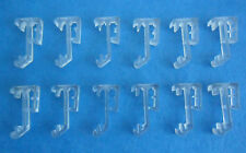 """12 pcs 1 Inch Single Slat Clear Valance Retainer Clips 1"""" for Wood or Mini Blind"""