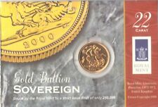 More details for 2000 22ct royal mint gold full sovereign coin card pack sealed [d]