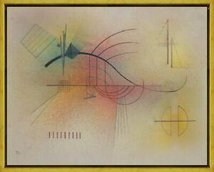 Framed Wassily Kandinsky Line Giclee Canvas Print Paintings Poster Reproduction