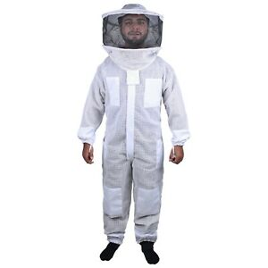 Beekeeping Bee Full Suit 3 Layer Mesh Ultra Cool Ventilated Round Head